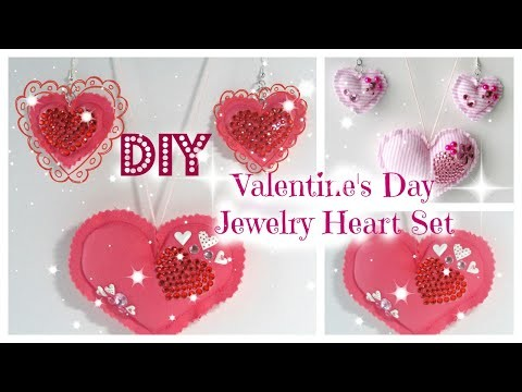 DIY Valentine's Day Jewelry Heart Set