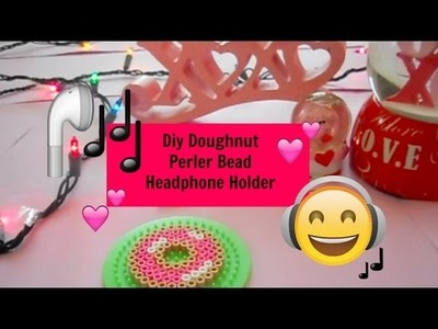 DIY Valentines Day Gifts! - Perler Bead Doughnut Headphone Holder!