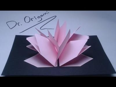 |DIY| Very easy| kirigami Pop-up card lotus flower