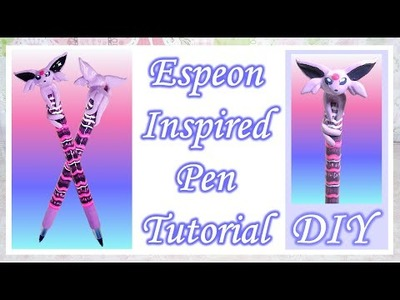 Espeon Inspired Pen Tutorial: Polymer Clay DIY