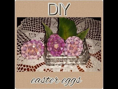 Flower easter eggs tutorial DIY paper craft