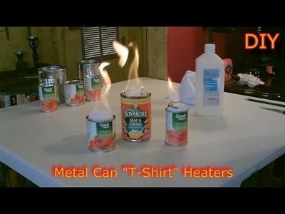 "Homemade Heaters! - The Metal Can ""T-Shirt"" Heater - DIY Rolled Wick Heater - SHTF.Survival Heater"