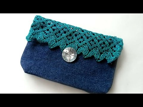 How To Create A Cute Lace And Jeans Purse - DIY Crafts Tutorial - Guidecentral