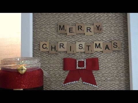 How To Create A Magical Christmas Scrabble Art Frame - DIY Crafts Tutorial - Guidecentral
