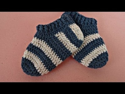 How To Crochet Stripy Baby Socks - DIY Crafts Tutorial - Guidecentral