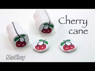 How to make a cherry polymer clay cane - DIY