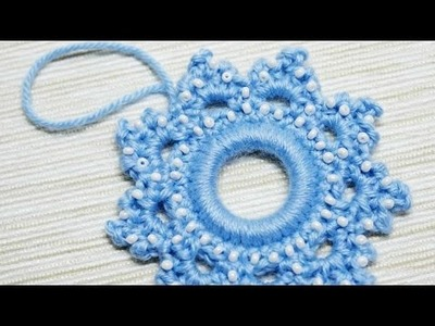 How To Make A Crocheted Snowflake Christmas Ornament - DIY Crafts Tutorial - Guidecentral