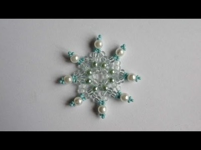 How To Make A Crystal Bead Snowflake - DIY Crafts Tutorial - Guidecentral