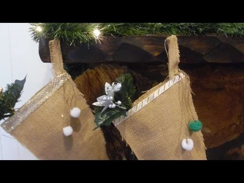 How To Make No Sew Burlap Stockings - DIY Crafts Tutorial - Guidecentral