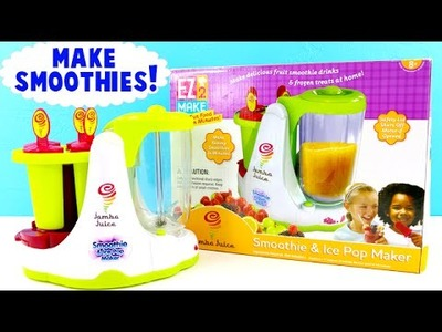 Jamba Juice SMOOTHIE and Ice Pop Maker! DIY Make Your Own Frozen Treats