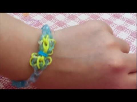 Loom band tutorial:Cinderella bracelet