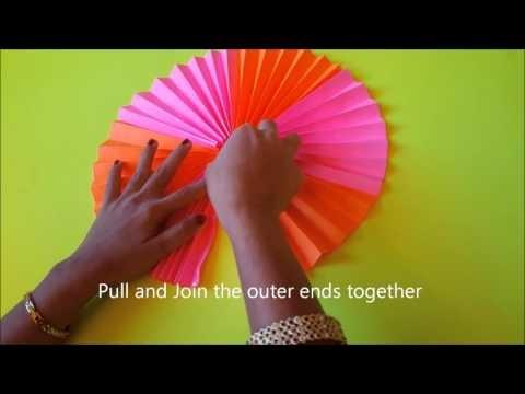 Paper Crafts - Make Paper Rosette in Simple Steps - Tutorial (DIY)