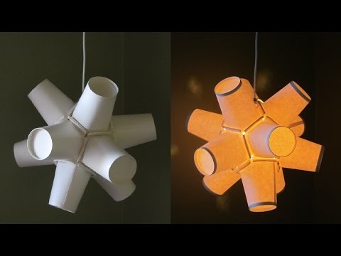 Paper cup lamp diy best out of waste project ezycraft for Waste paper craft for kids
