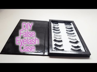 Super Easy.DIY False Eyelashes Cash.Storage