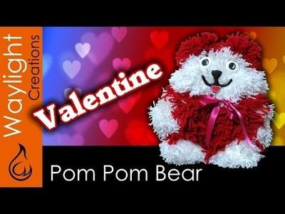 Valentine Bear - Yarn Pom-Pom Teddy Bear DIY