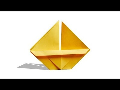 3D Origami Yacht | DIY | Learn Origami |  How To Make Easy Origami Yacht