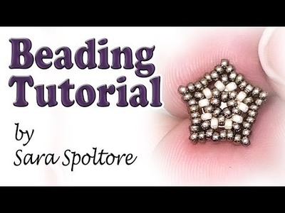 BeadsFriends: beading tutorial - Beaded star post earring - DIY earring