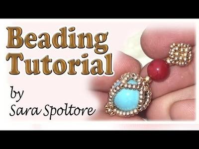 BeadsFriends: beading tutorial - How to make beaded earrings - DIY earrings
