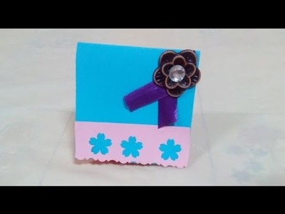Creative Ideas - DIY - Simple and Amazing Greeting Card + Tutorial .
