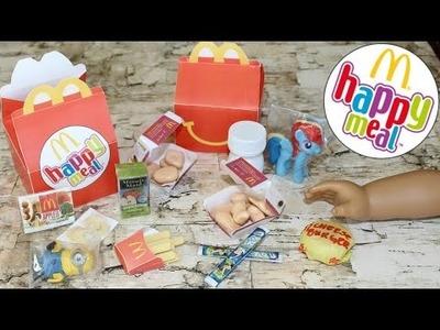 DIY American Girl McDonalds Happy Meal