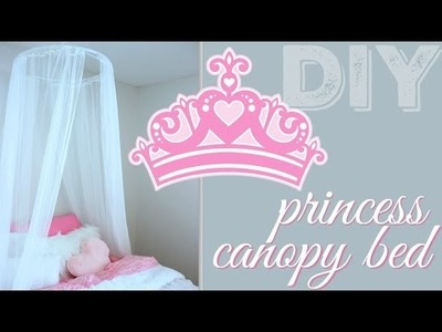DIY CANOPY BED-PRINCESS BED! & How to Hang