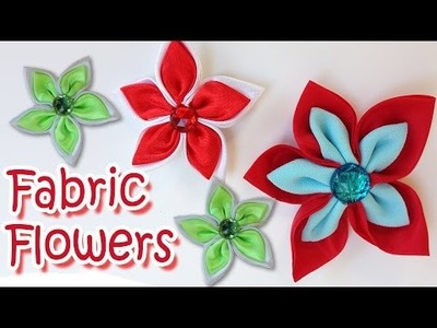 DIY crafts : How to make Fabric flowers Very easy Tutorial !! - Ana | DIY Crafts
