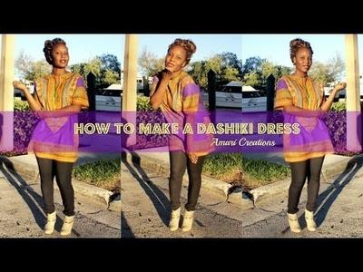 DIY: Dashiki Dress.Shirt. How to Sew A Dashiki Dress.Shirt Amari Creations