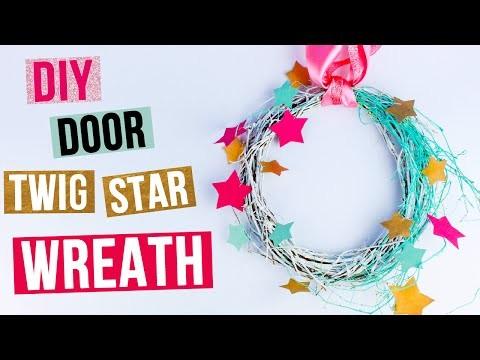 DIY Door Twig Star Wreath