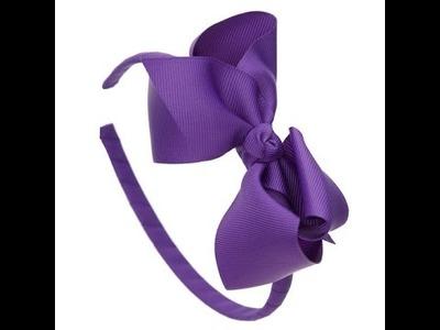 DIY - Easy Make Cute Ribbon Hair Bands For Girl