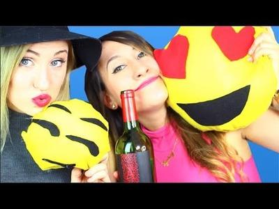 DIY Emoji No-Sew Pillow! Drunk Testing Pinterest with Maddy McQ! | Lyndsay Rae