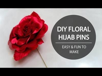 DIY FLORAL HIJAB PINS - TUTORIAL FOR EID, PARTIES, & WEDDINGS