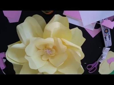 DIY Giant Paper Flower Tutorial