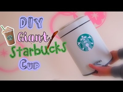 DIY GIANT STRABUCKS CUP! Garbage Bin or Storage Container!