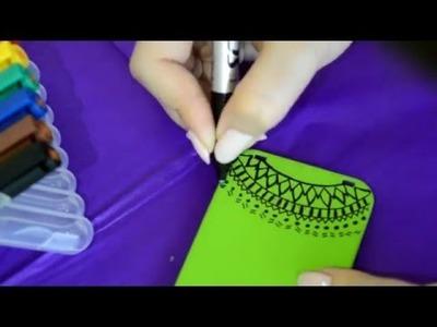 DIY: Handmade phone cases - Easy drawing