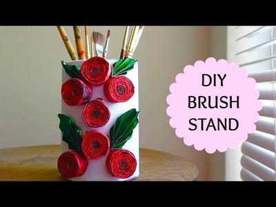 DIY: How to make Brush Stand.Holder using Salt Box   Best from Waste   SensationalSupriya
