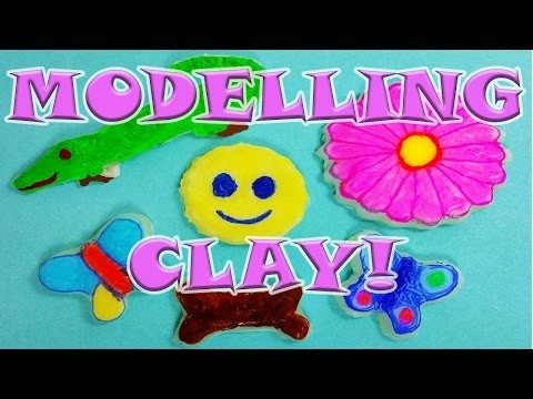 DIY: HOW TO MAKE SIMPLE MODELLING CLAY! WITH 2 EASY INGREDIENTS!