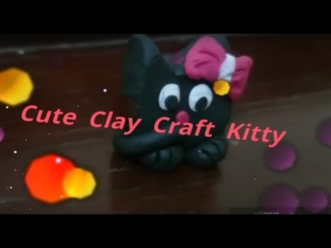DIY Ideas | Clay Craft | Cute Kitty Clay Modeling | Clay Charms