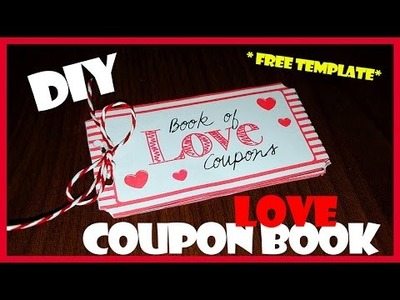 DIY | Last Minute Valentine's Day Gift Idea - Love Coupon Book FREE TEMPLATE