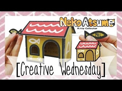"DIY NEKO ATSUME ""CARDBOARD HOUSE"" POP UP INVITATION CARD! [CREATIVE WEDNESDAY]"