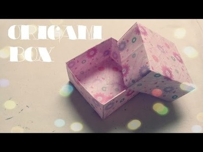 DIY - Origami Box with Lid