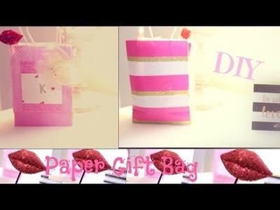 DIY: Paper GIFT Bag|Valentine's Theme