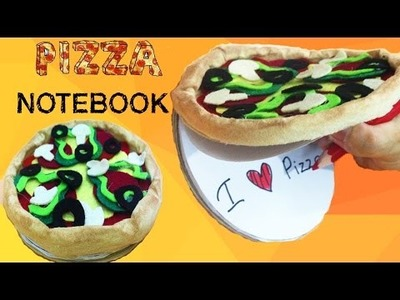 DIY Pizza Notebook Tutorial - How To Make Pizza Notebook