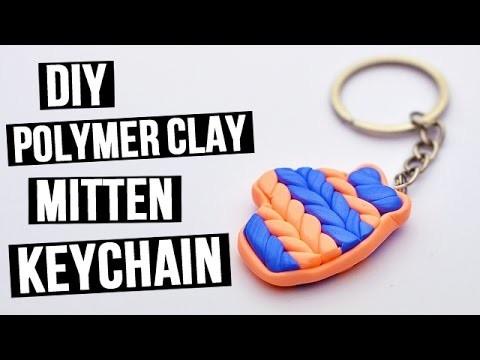 DIY Polymer Clay Mitten Keychain