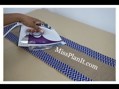 DIY: Quick Tip No Sew Table Runner! Part 3