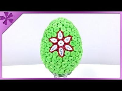 DIY Quilling Easter egg (ENG Subtitles) - Speed up #189