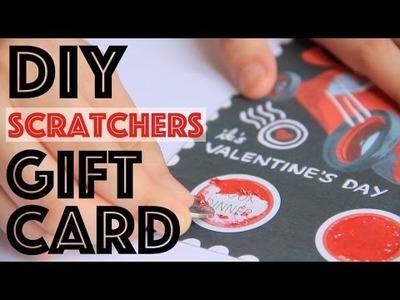 DIY Scratchers Gift  Card | Valentine's Day