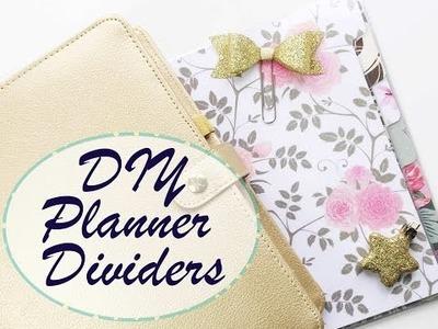 DIY TUTORIAL: 5 Steps to create Planner Dividers