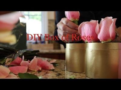 DIY Valentine's Day Box of Roses
