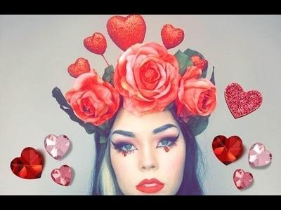 ►DIY ► Valentines day Flower Crown! SO EASY!