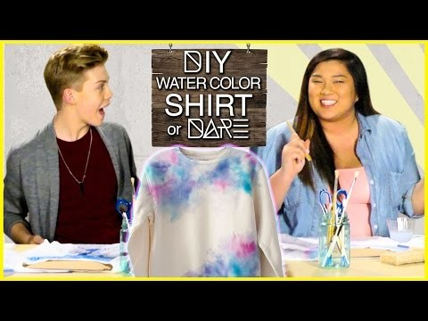 DIY Watercolor Shirt?! | DI-Dare w. MissRemiAshten & Aidan Alexander